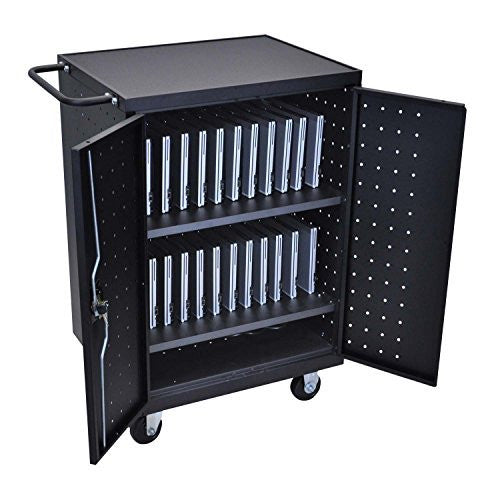 LUXOR LLTP24-B Laptop/Tablet Charging Cart