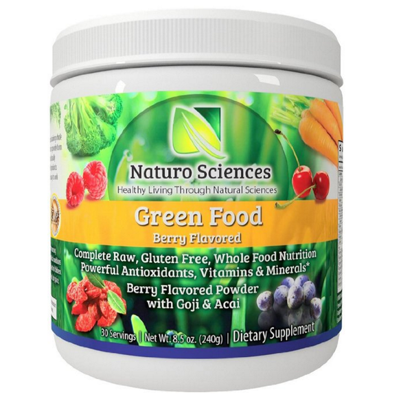 Naturo Sciences Natural Greens - Complete Raw Whole Green Food Nutrition with Super Powerful Antioxidants, Vitamins, Minerals