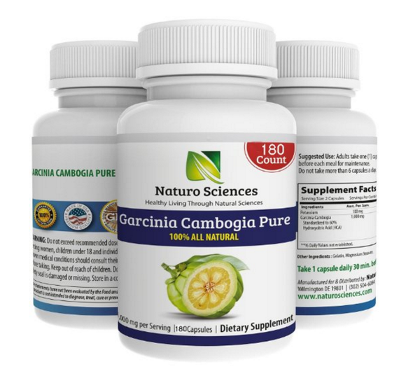 Garcinia Cambogia Pure Extract BIG SIZE By Naturo Sciences - Best Quality All Natural Health Supplement