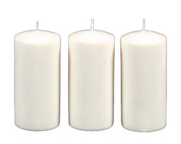 DYNAMIC COLLECTIONS 3 Pillar Candles value pack, White