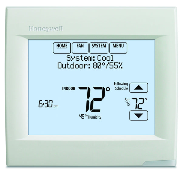 Honeywell TH8110R1008 VisionPRO 8000 Touch Screen Single Stage Thermostat with RedLINK Technology