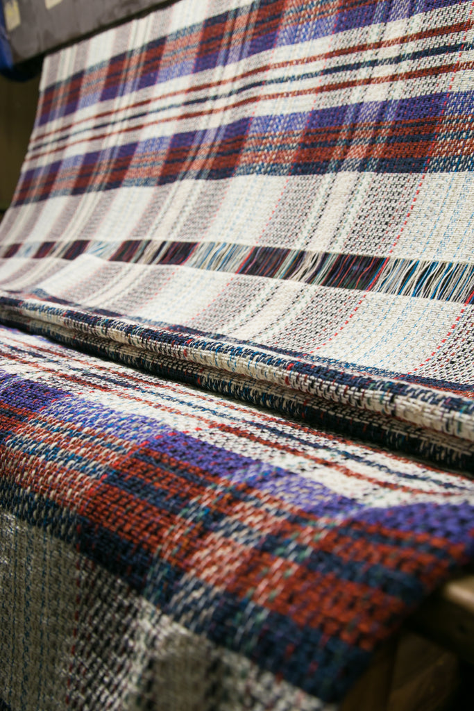 Tweedmill plaid pure laine recyclé 120x150cms