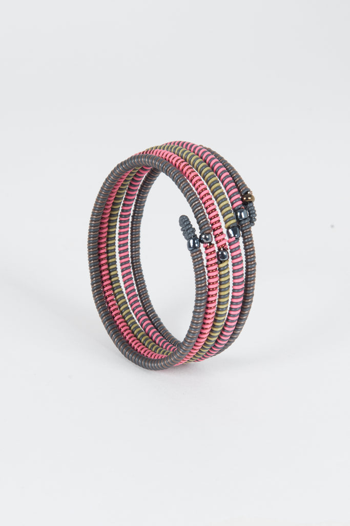 Bracelet striped scoobie, fil de telephone INDIAN DREAM