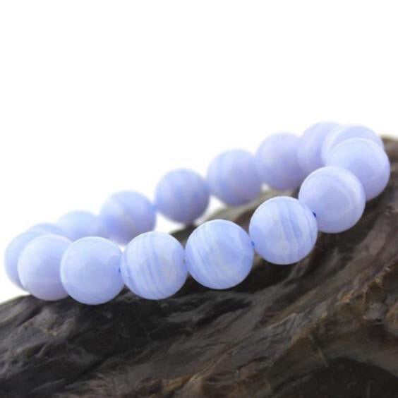 Luxury bracelets Natural Stone Blue Lace Agate