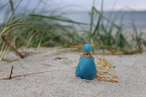 Aquamarine perfumebottle Necklace