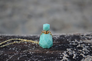 Amazonite Perfumebottle Necklace