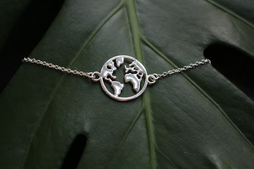 Mother earth bracelet silver