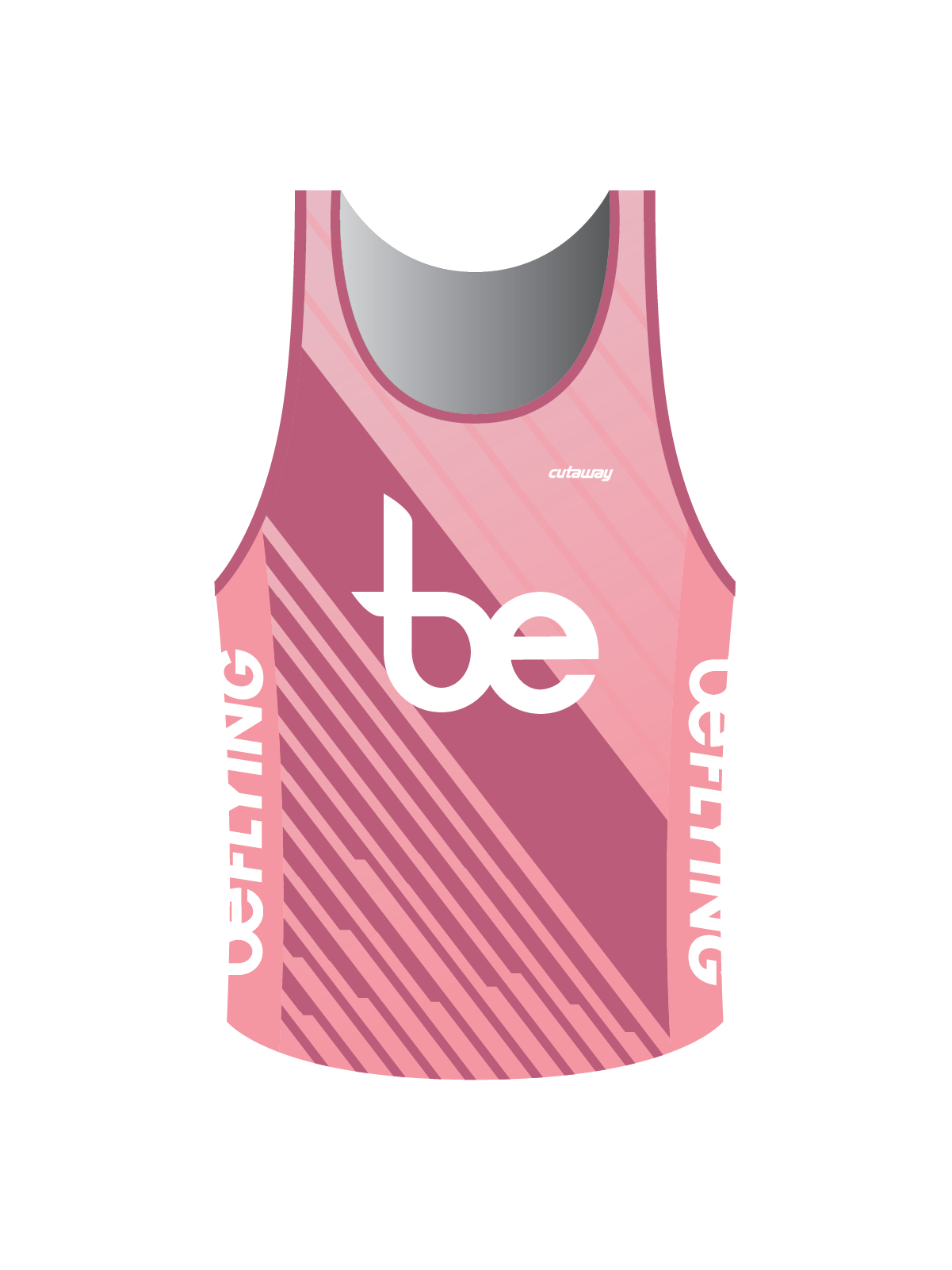 Beyond Exercise Running Singlet - Pink