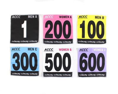 Custom Fabric Race Numbers