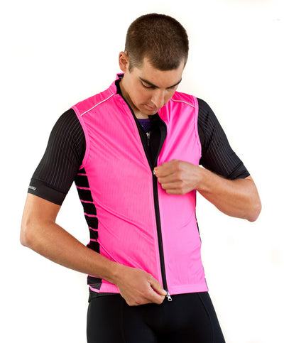 Afton Sight Visibility Vest - Neon Pink