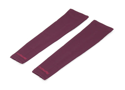 Fleece Arm Warmers - Deep Maroon