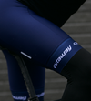 Cutaway Fleece-lined Thermal Bib Shorts - Dark Navy