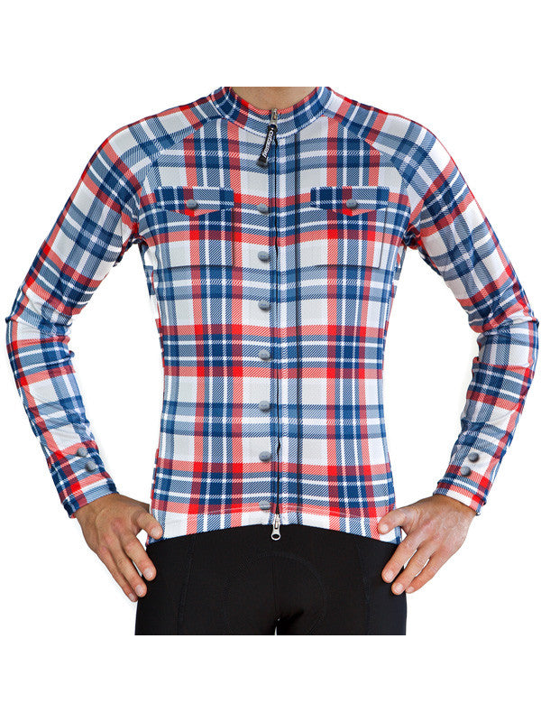 Limited Edition Plaid Long Sleeve Jersey - XL
