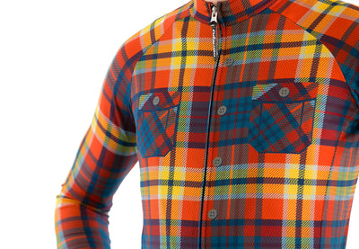 Rustic Appalachia Plaid Long Sleeve Jersey