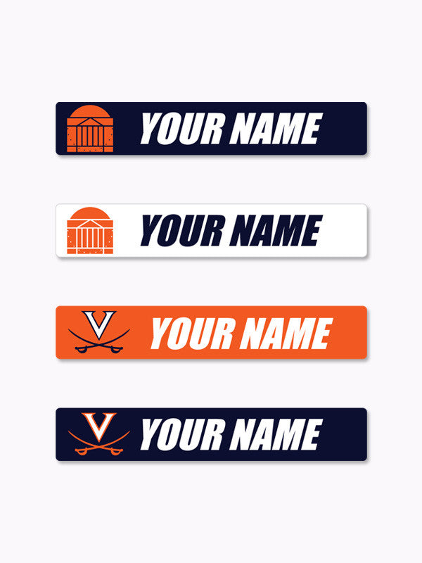 UVA Personalized Name Decals