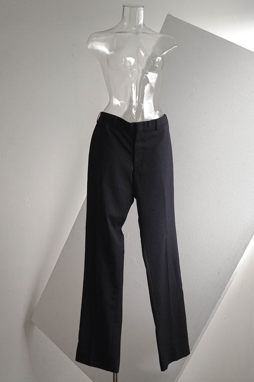 Pinstripe Charcoal-Navy Straight Trousers