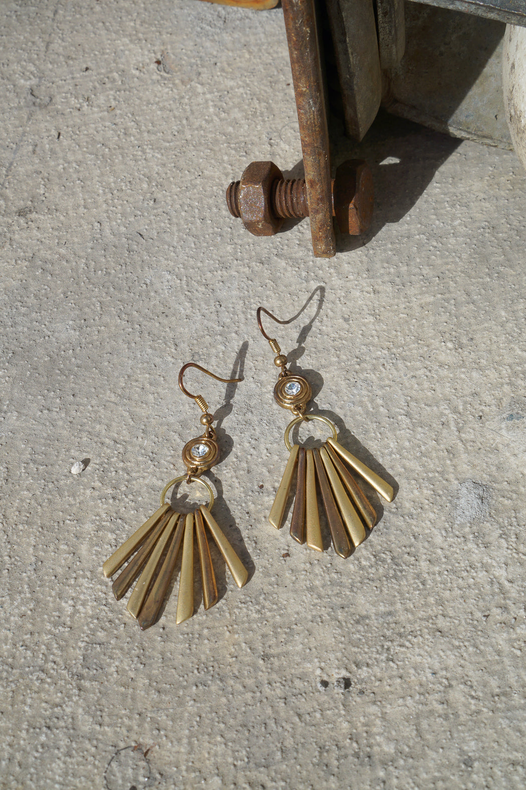 GOLD BLADE DANGLES