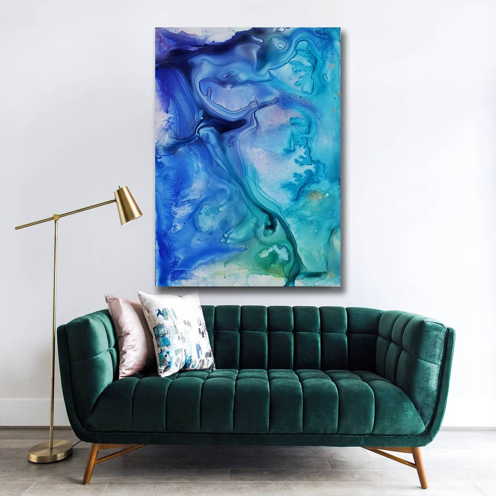 The Mirror Waters Art Print - Abstract Ocean - Watercolor Painting