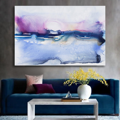 Colour Array Art Print - Abstract Seascape - Watercolor Painting