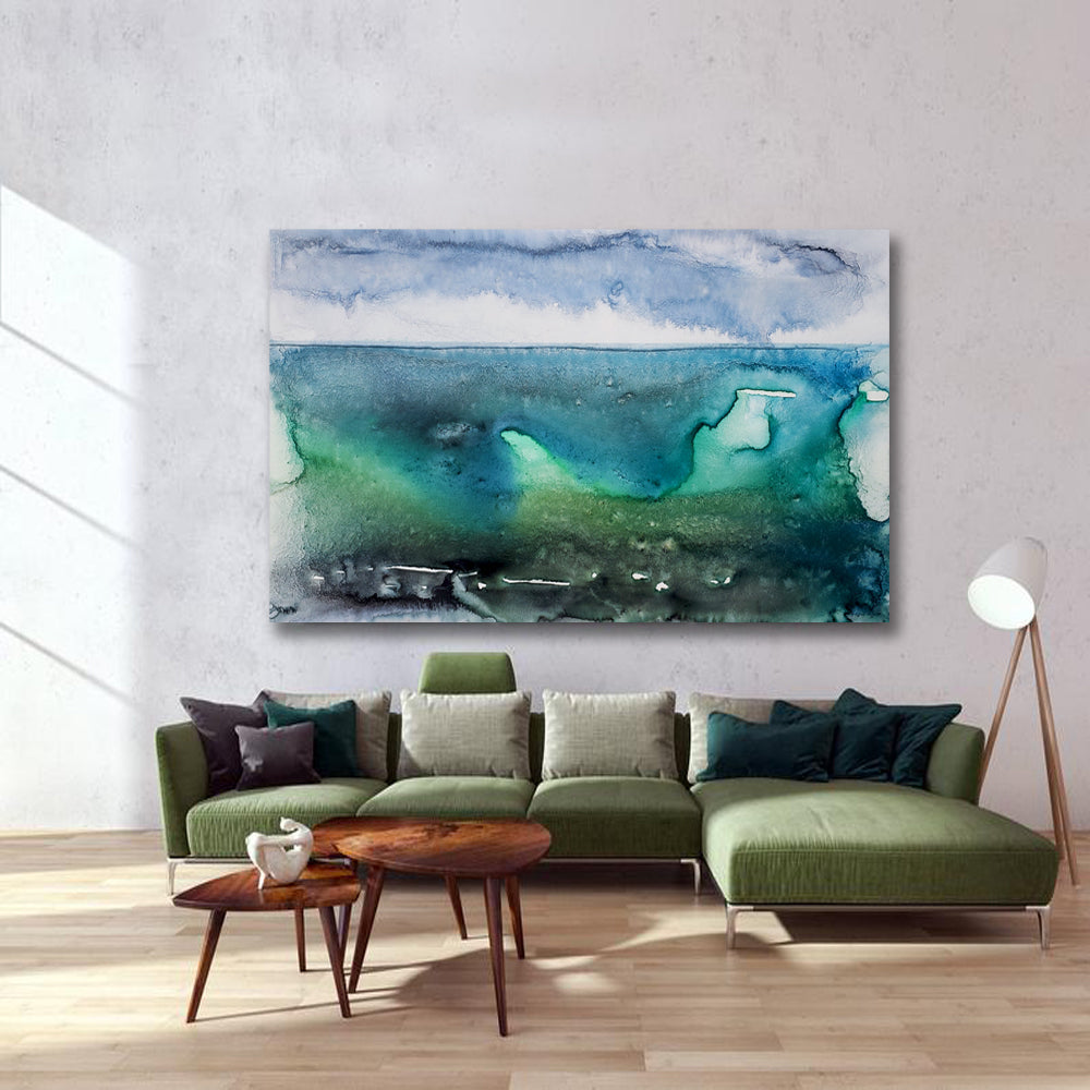 Holding on For Life Art Print - Abstract Seascape - Watercolor Painting