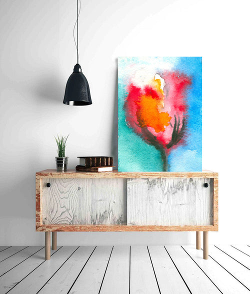Watercolor Painting - Tulip Abstract Art Print - Brazen Design Studio