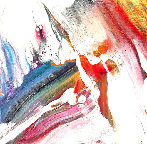 Pyrrhus - Abstract Acrylic Fluid Painting - Contemporary Diptych Art