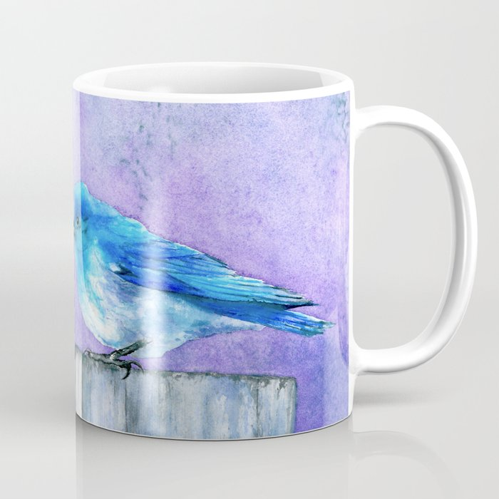 Bluebird Watercolour Coffee Mug - Kitchen Decor Mug Drinkware