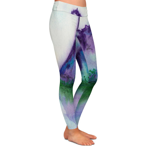 Asian Fisherman Watercolor Painting - Artistic All Over Printed Leggings