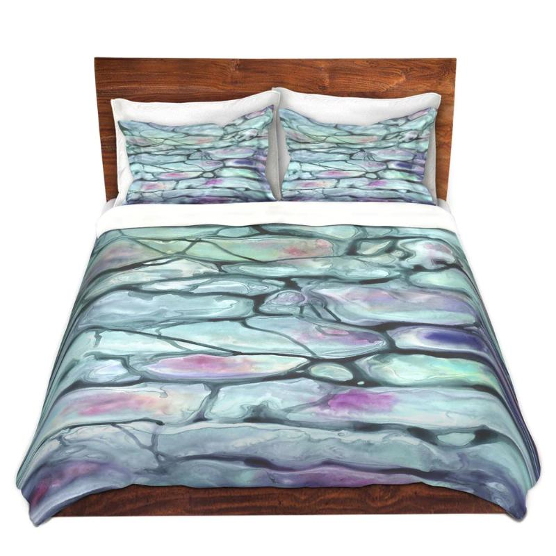 Invidia Abstract Watercolor Painting Contemporary   - Modern Bedding - Duvet or Comforter