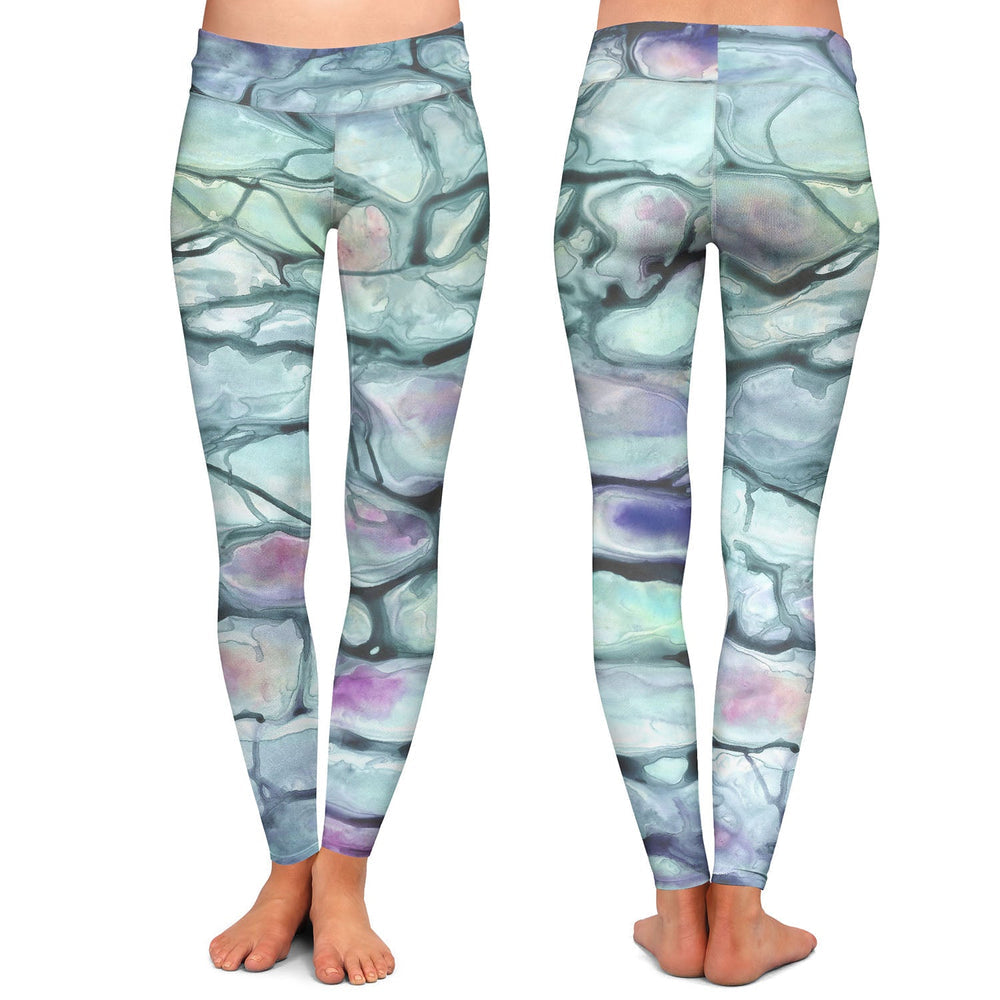 Invidia Abstract Painting - Artistic All Over Printed Leggings