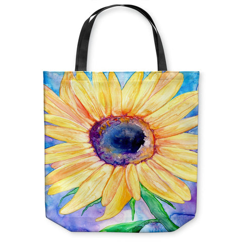 Art Tote Bag - Raven Full Moon Watercolor Painting - Shopping Bag