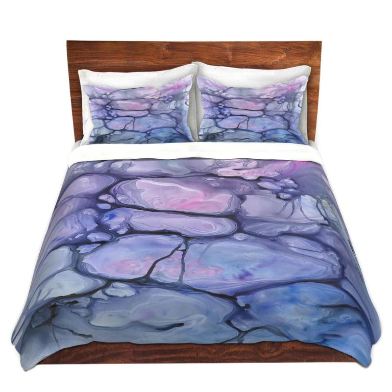 Violaceae Abstract Watercolor Painting Contemporary   - Modern Bedding - Duvet or Comforter