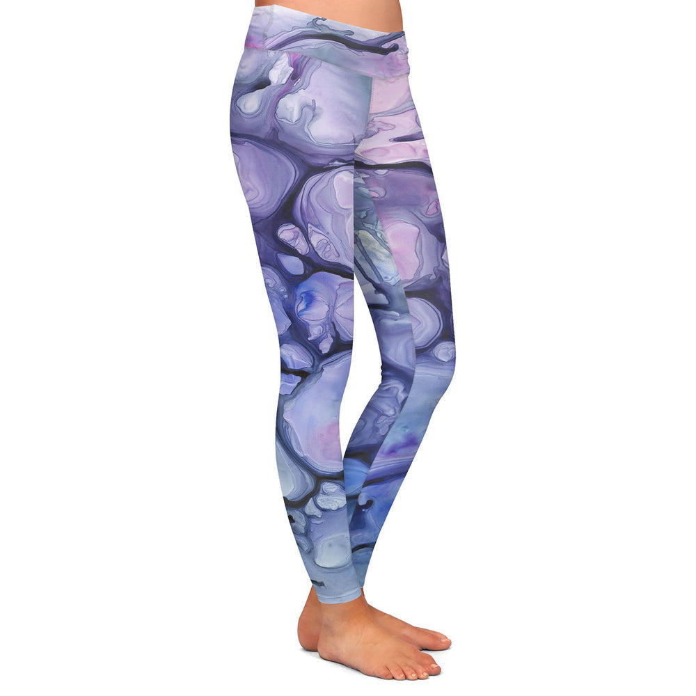 Violaceae Abstract Painting - Artistic All Over Printed Leggings
