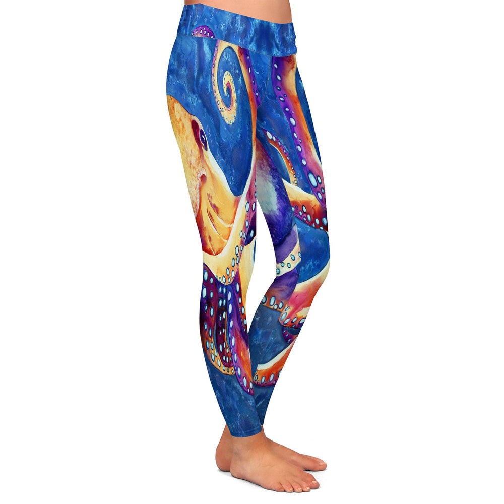 Octopus Leggings - Artistic All Over Printed Designer Clothing