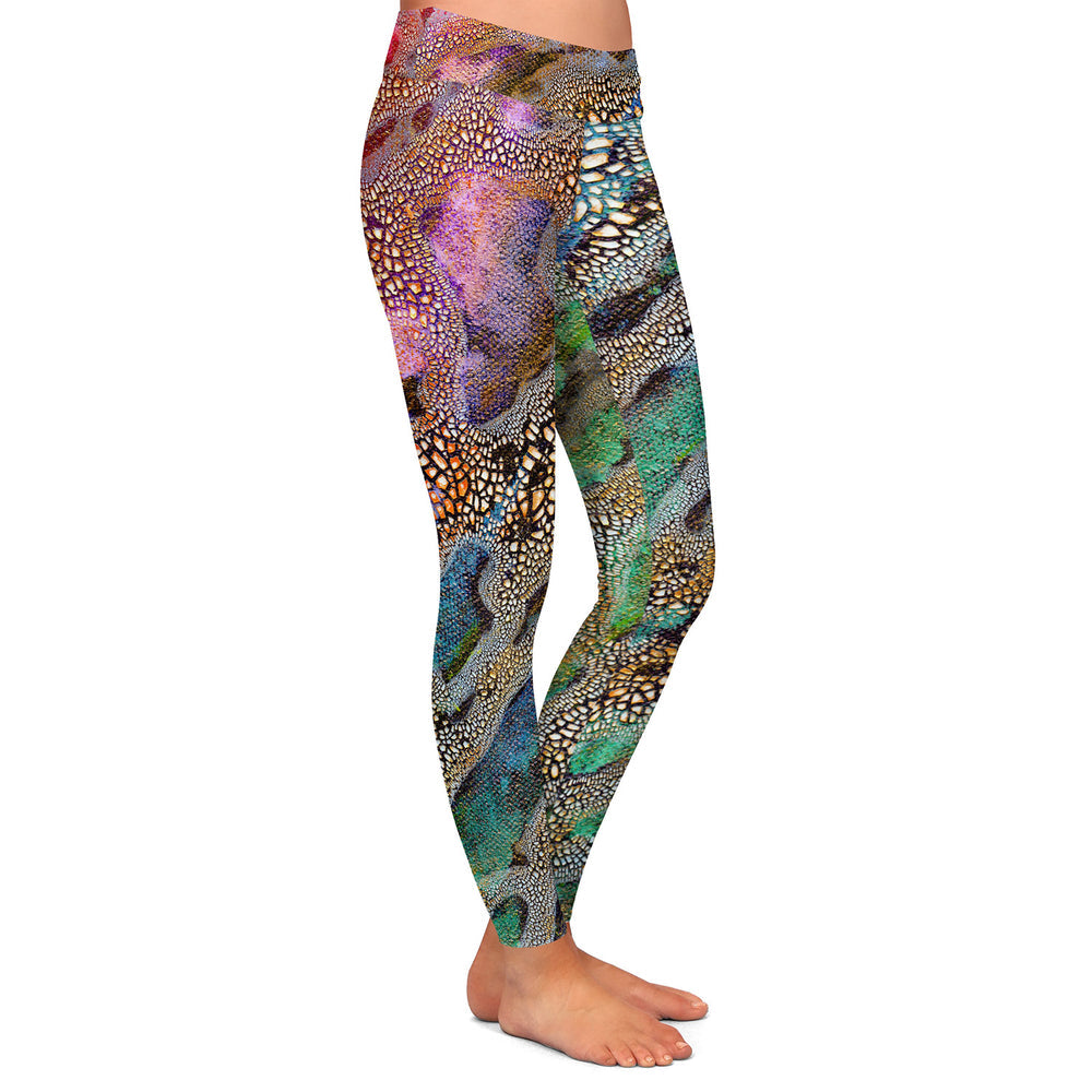 Omicron Abstract Painting - Artistic All Over Printed Leggings