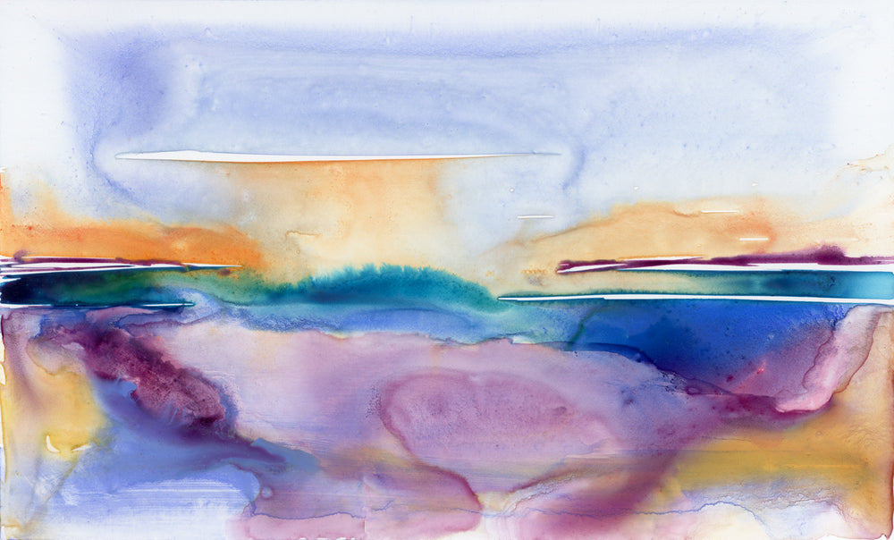 Crystal Blue Persuasion Art Print - Abstract Seascape - Watercolor Painting