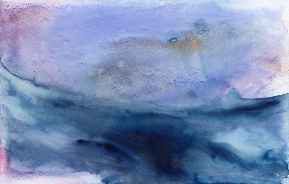 Dreamscape Art Print - Stormy Seascape - Watercolor Painting