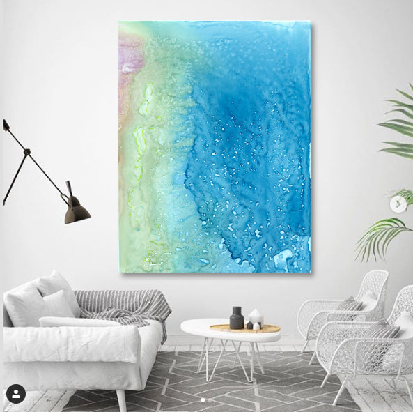Ocean of Thought - Watercolor Painting - Abstract Seascape Contemporary Art Print