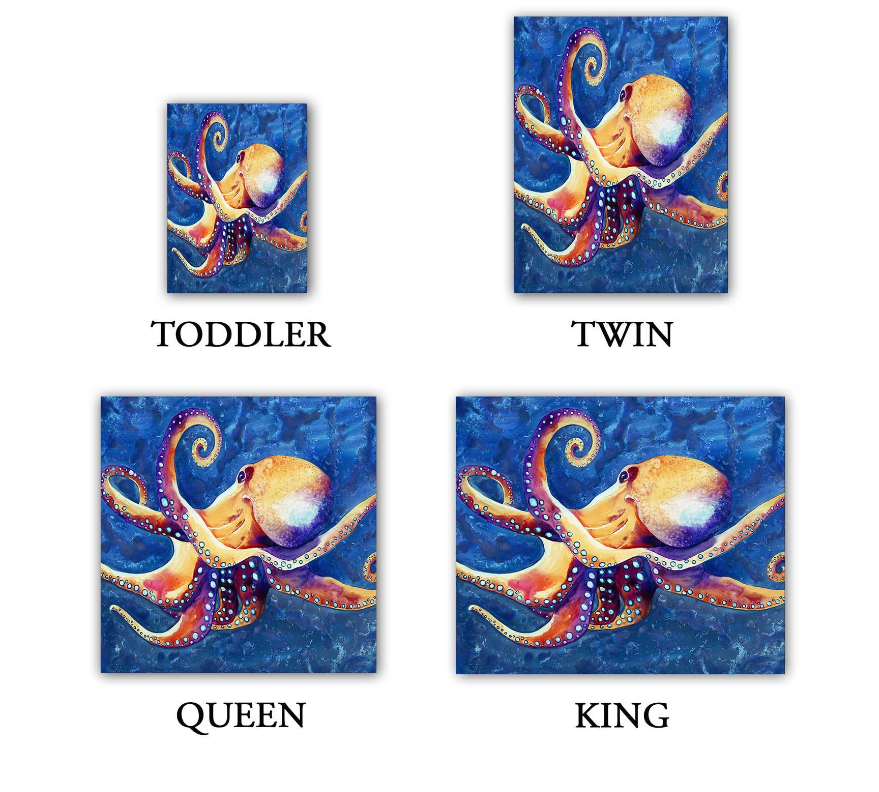 Octopus Painting Duvet Set - Nature Modern Bedding - Duvet Cover - Brazen Design Studio