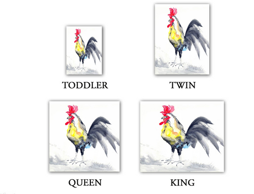 Rooster Painting Duvet Set - Nature Modern Bedding - Duvet Cover - Brazen Design Studio