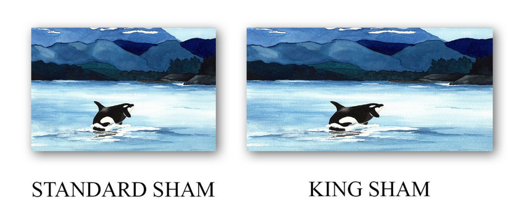 Orca Painting Contemporary Modern Duvet Set
