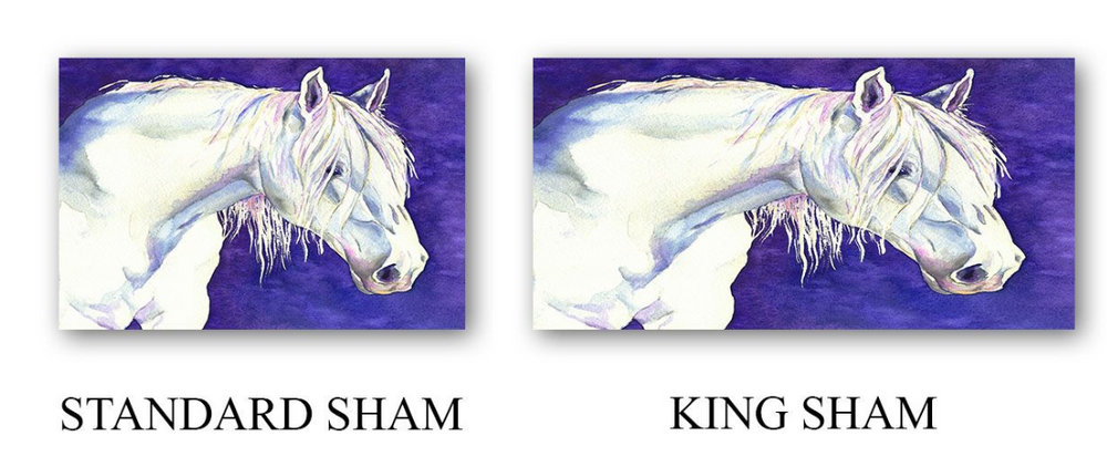 Shay Equine Horse Watercolor Painting  - Modern Bedding - Duvet or Comforter