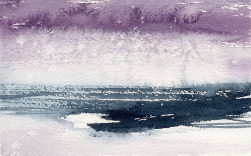 Art Print - Piraeus Abstracted Seascape - Watercolor Painting