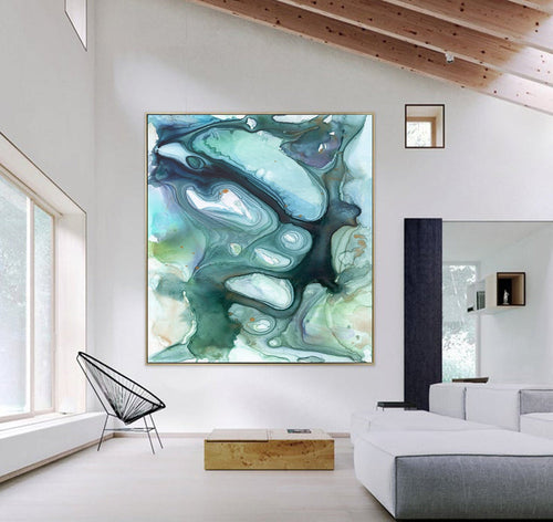 Siren Song Art Print - Abstract Ocean - Watercolor Painting