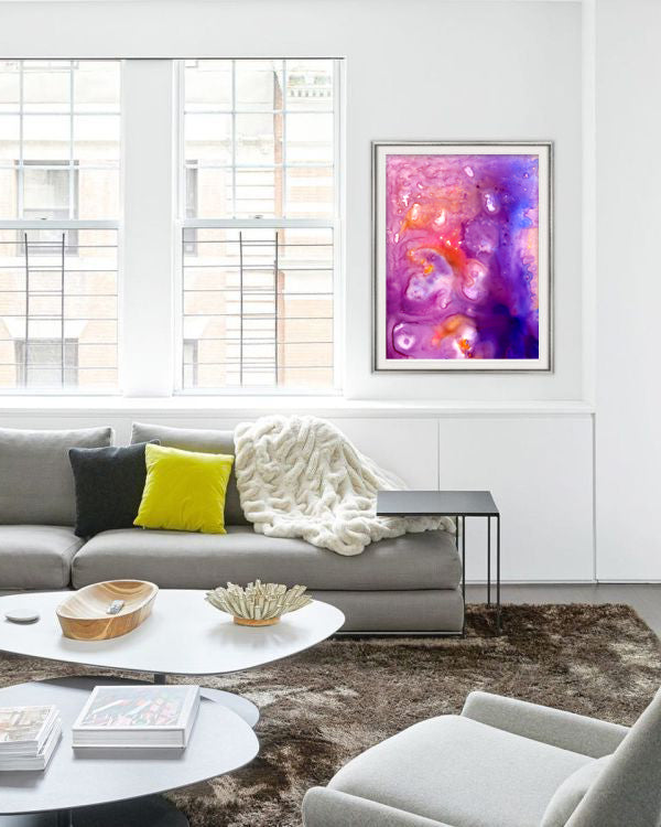 Visions Undreamed Abstract Watercolor Painting - Modern Contemporary Art Print
