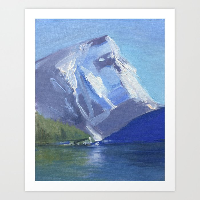 Above It All - Oil Painting Mountain Landscape Contemporary Art Print