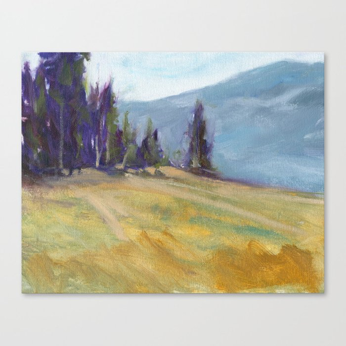 A Chance Encounter - Oil Painting Landscape Nature Inspired Contemporary Art Print