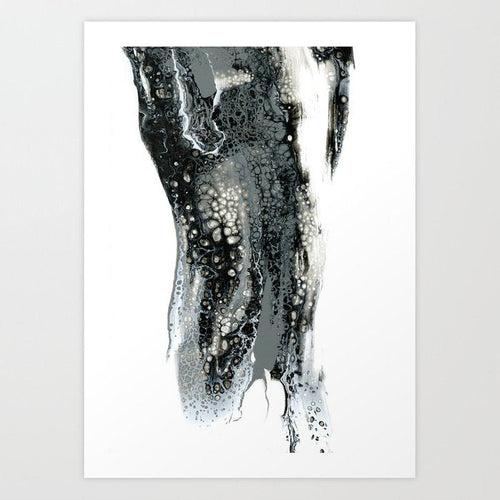Abstract Art - Dignitas Black and White Contemporary Art Print