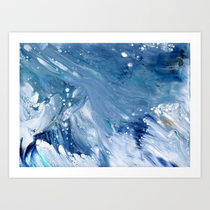 Ocean Abstract Art - Fortunae Contemporary Art Print