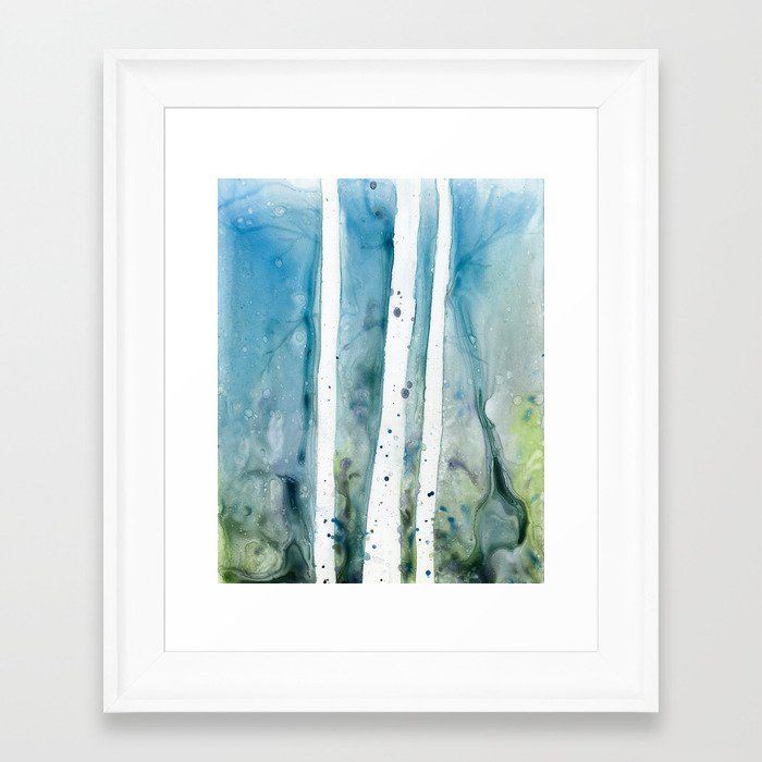 Faerie Ethereal Forest Nature Inspired Watercolor Contemporary Art Print